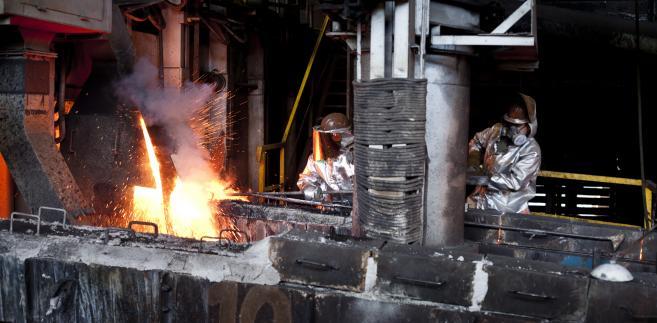 Wytop miedzi w należącej do KGHM hucie w Głogowie, fot. Bartek Sadowski/Bloomberg