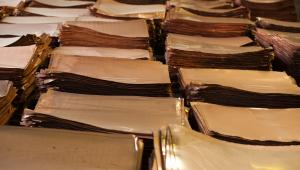 Arkusze blachy miedzianej w hucie KGHM w Głogowie, fot. Bartek Sadowski/Bloomberg
