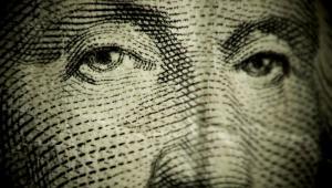 Twarz Jerzego Waszyngtona z banknotu dolarowego, fot. J Freeman.