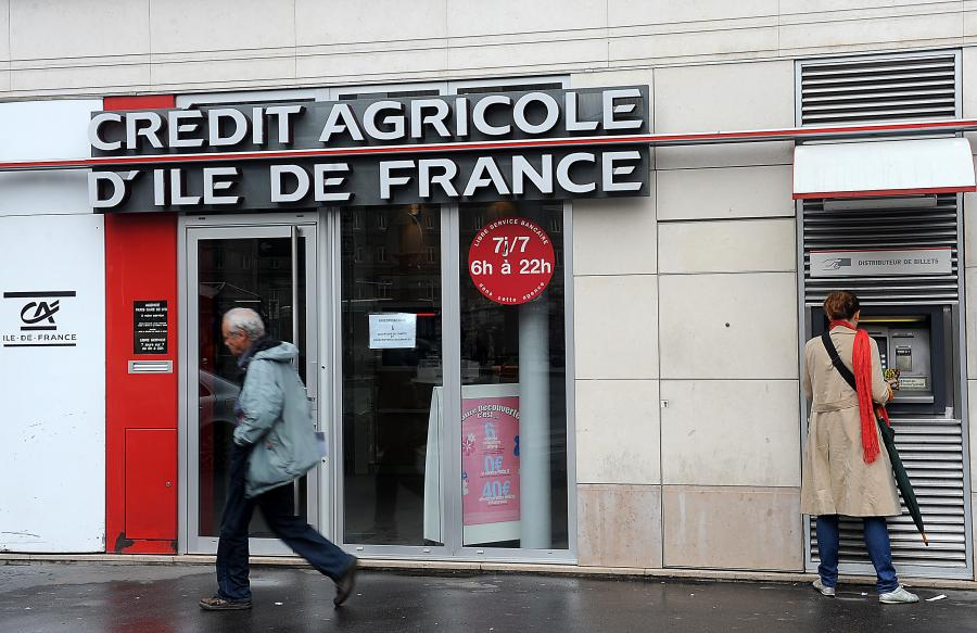 Oddział banku Credit Agricole w Paryżu