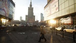 Widok na Pałac Kultury i Nauki w Warszawie. Fot. Bartek Sadowski/Bloomberg
