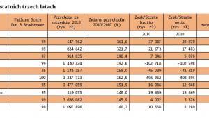 Najbardziej dymaniczne polskie firmy w ostatnich trzech latach