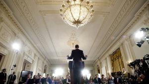 Barack Obama podczas konferencji prasowej w Waszyngtonie