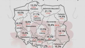 Liczba zarejestrowanych bezrobotnych oraz stopa bezrobocia - POLSKA - styczeń 2012 r.
