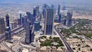 Widok z Burj Khalifa, najwyższego budynku na świecie (ponad 800 m n.p.m.), Dubaj, Zjednoczone Emiraty Arabskie. Fot. Shutterstock.