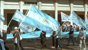Manifestacja w Argentynie, 2001 r.