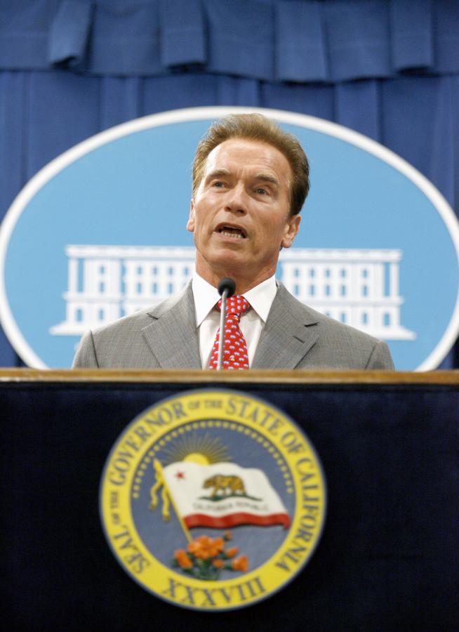 Arnold Schwarzeneger. gubernator stanu Kalifornia
