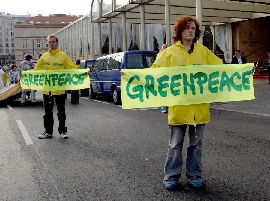 Greenpeace. Fot. Bloomberg