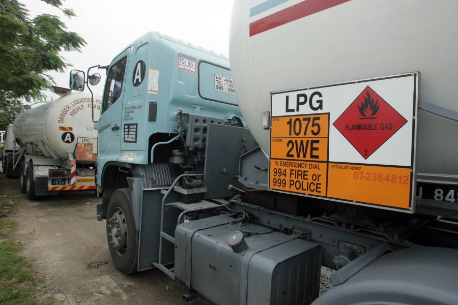 Cysterna przewożąca LPG. Fot. Bloomberg