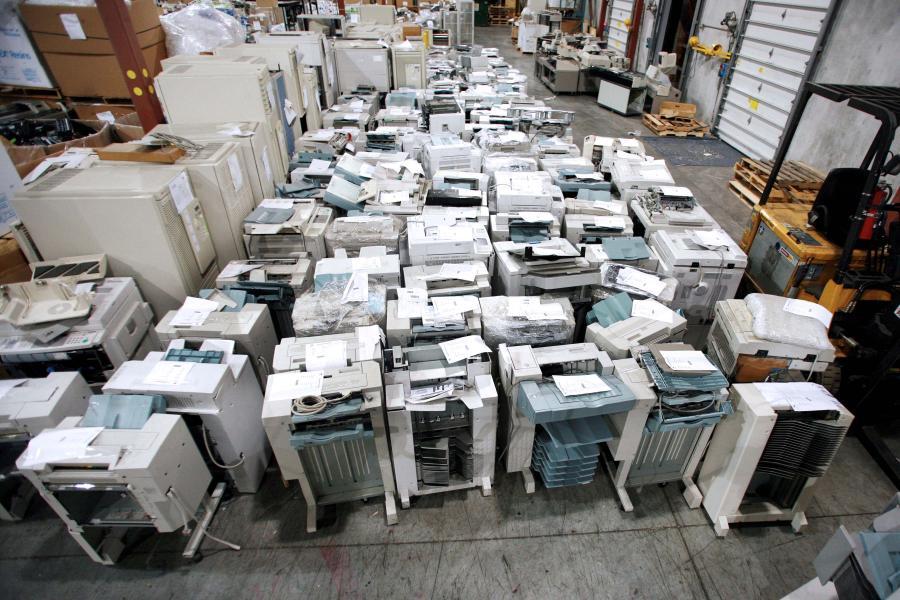 Sprzęt do recyclingu. Fot. Bloomberg