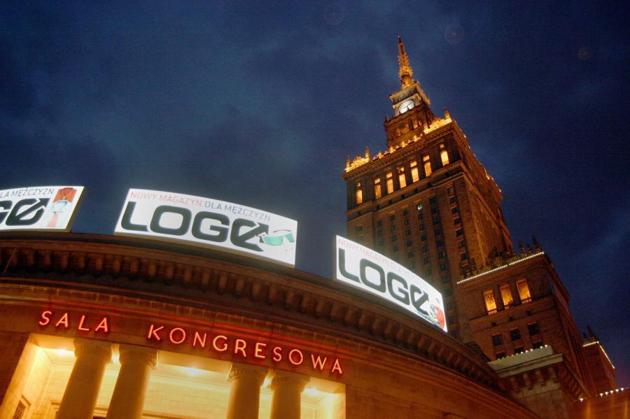 Warszawa nocą. Fot. Bloomberg