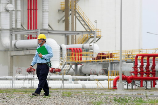 Termianl LNG na Tajwanie. Fot. Bloomberg