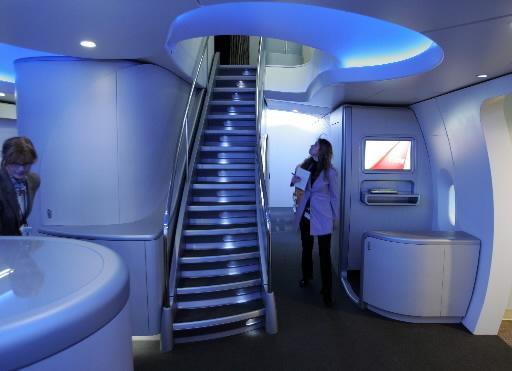 Wnętrze samolotu Boeing