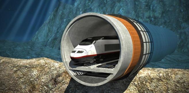 Projekt tunelu mającego połączyć Helsinki i Tallin. Źródło: FinEstBay Area