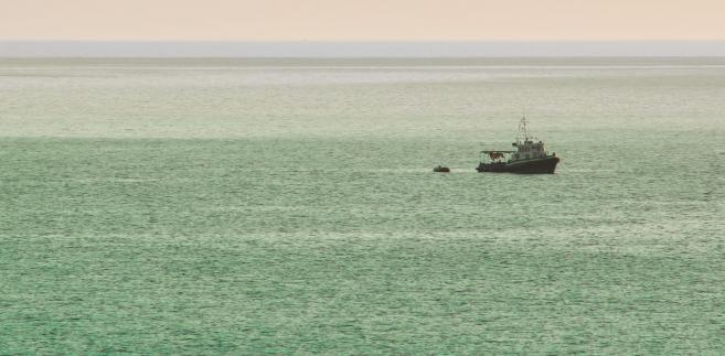 Statek patrolujący morską granicę Ukrainy z Rosją, zdjęcie ilustracyjne.