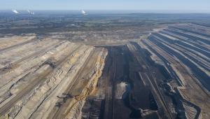 Kopalnia odkrywkowa węgla brunatnego w Hambach. Niemcy, 5.10.2018