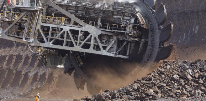 Kopalnia odkrywkowa węgla brunatnego w Hambach. Niemcy, 13.08.2018