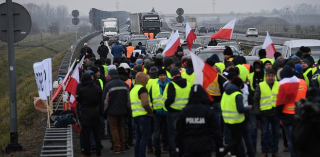 rolnicy, protest, Brwinów, ASF
