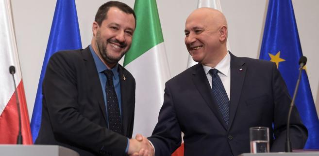 Matteo Salvini i Joachim Brudziński,