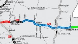 Autostrada A2 na wschód od Warszawy, źródło: GDDKiA
