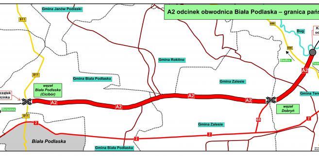 A2 Biała Podlaska - granica państwa, źródło: GDDKiA