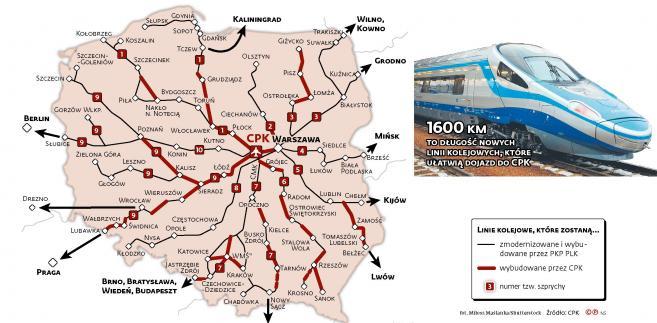 Dzieki Cpk Powstanie Nowa Os Komunikacyjna W Polsce Mapa