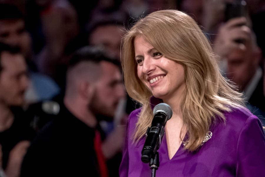 Zuzana Caputova w czasie wieczoru wyborczego, Bratysława, Słowacja. 30.03.2019