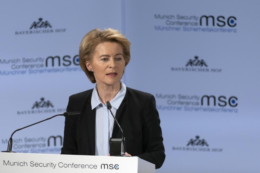 Ursula von der Leyen w czasie konferencji bezpieczeństwa w Monachium, 15.02.2019