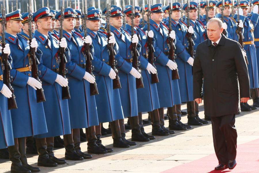 Władimir Putin w Belgradzie
