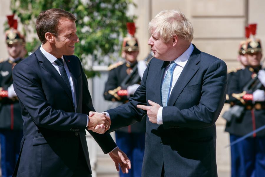 Emmanuel Macron i  Boris Johnson