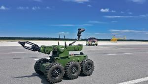 Robot IBIS na lotnisku