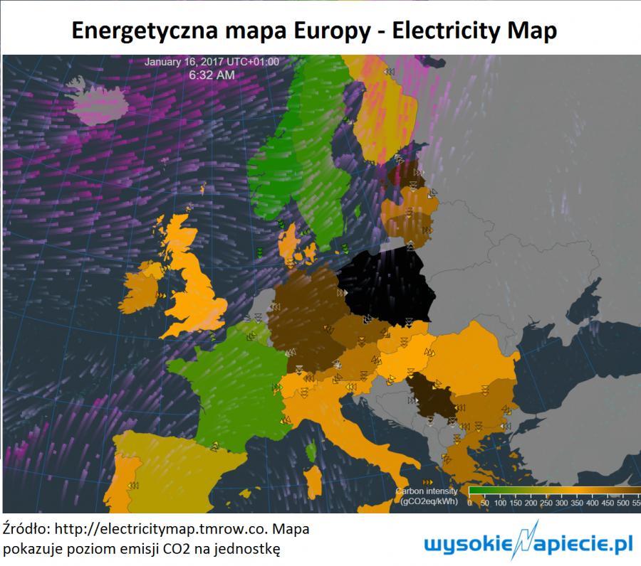 Energetyczna mapa Europy