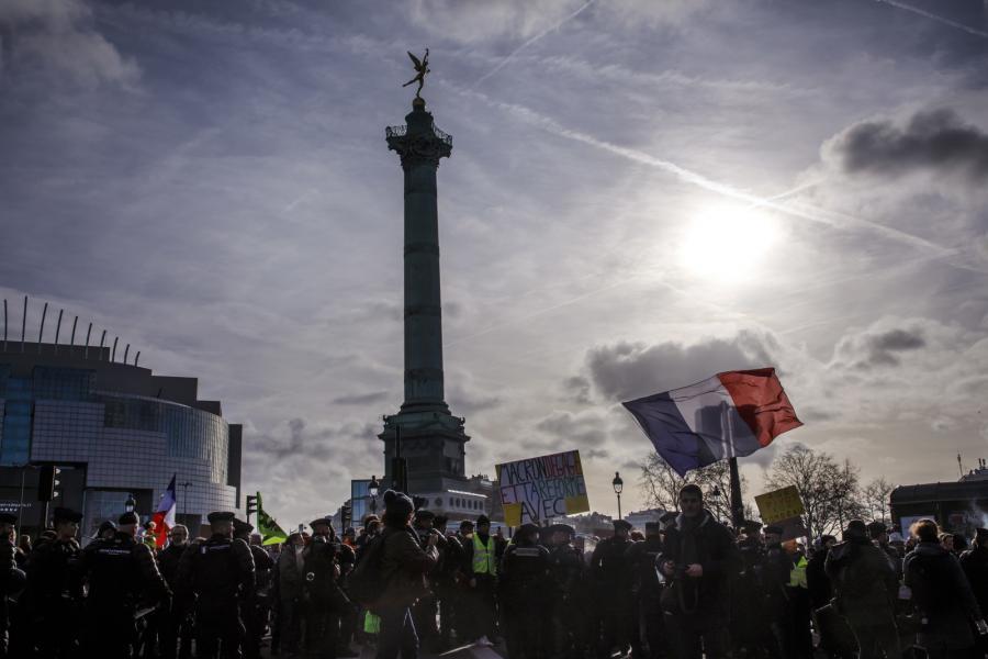 Francja protest Paryż