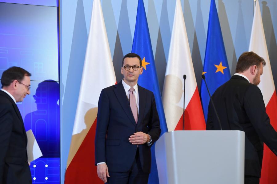 Mateusz Morawiecki, Mariusz Kamiński, Łukasz Szumowski