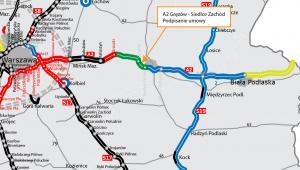 Autostrada A2, odcinek Gręzów - Siedlce Zach-01. Źródło: GDDKiA